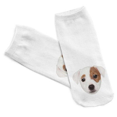 5 Pairs of 3D Printed Puppy Ankle Socks for Women
