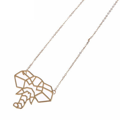 Geometric Elephant Necklaces for Women