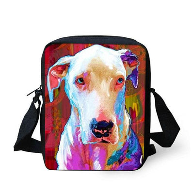 Multi-Colored Dog Messenger Bags for Women-Bags and Cases-DogBlabShop