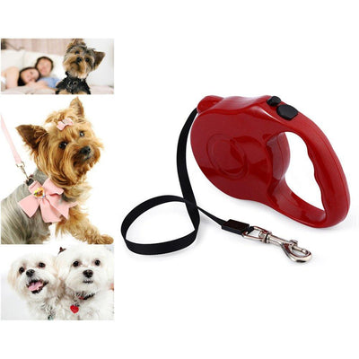 Retractable Dog Leash - One-handed Lock-Leashes-DogBlabShop