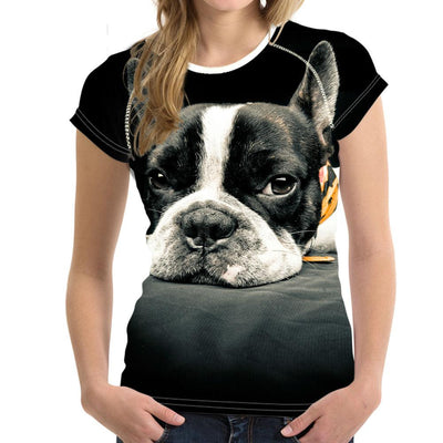 3D Dogs T-shirts for Women - DogBlabShop