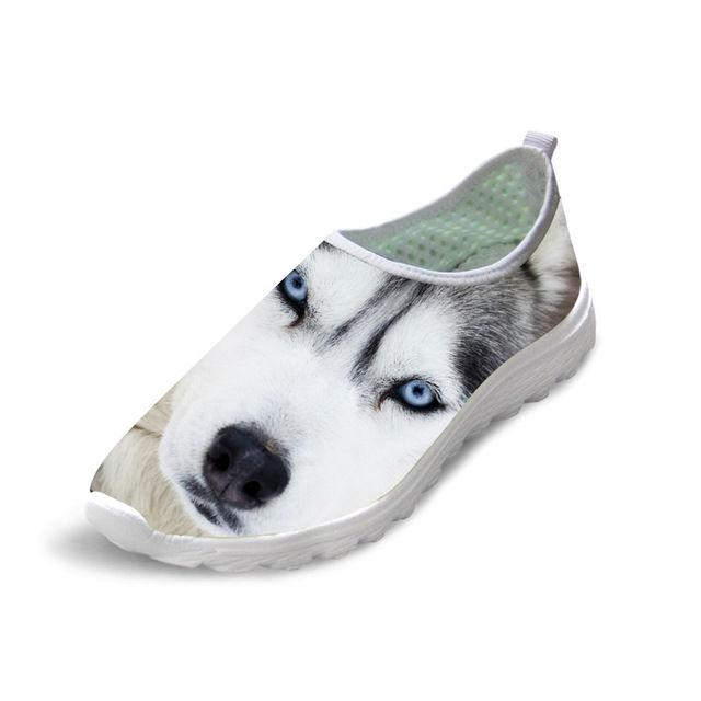 3D Wolf-Dog Mesh Slip-on Shoes for Men