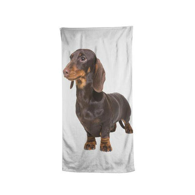 How to Draw a Dachshund Beach Towel-Home Textiles-DogBlabShop