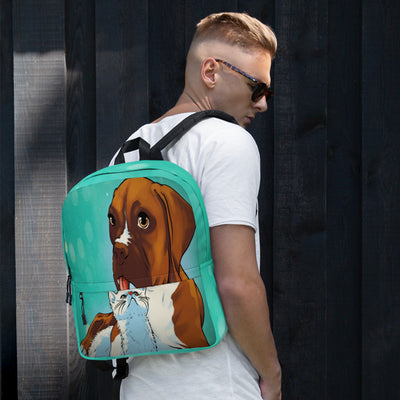 Cute Dog with Kitten Laptop Backpack