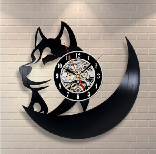 Animals Vinyl Record Wall Clocks