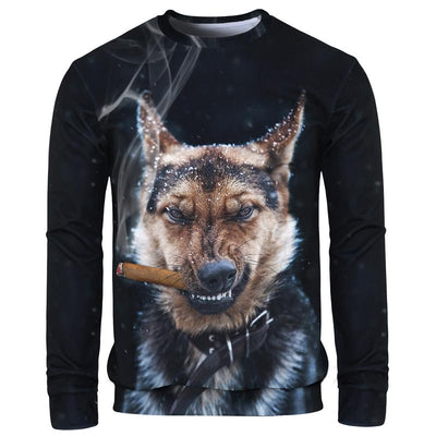 Angry Dog Long-Sleeved Shirt for Men