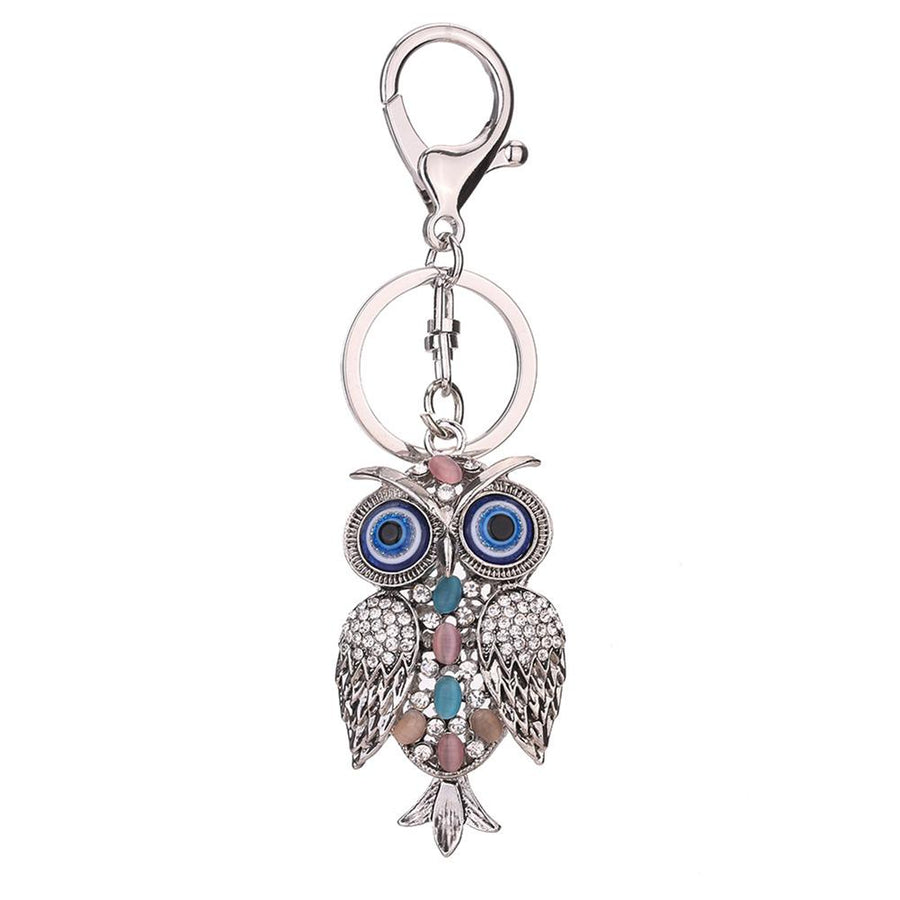 Cute Crystal Owl Key Holder for Women