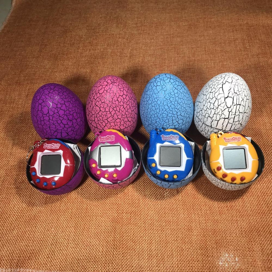 Multi-Color Dinosaur Eggs with Tamagotchi Toys