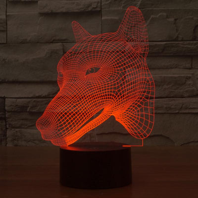 3D LED 7-Colors Dog Nightlight - DogBlabShop