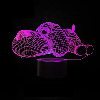 3D Sleepy Dog 7 Colors Nightlight - DogBlabShop
