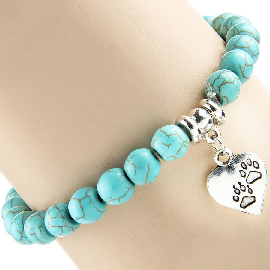 Full Of Love Paw Prints On My Heart Bracelet - Free + Shipping