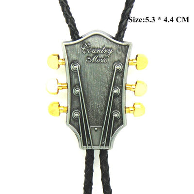 Guitar Metal Buckle Bolo Ties for Men