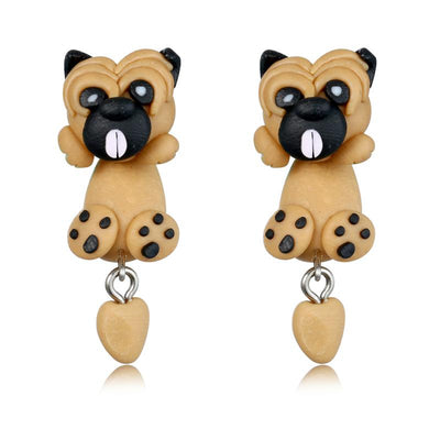 Cute Pug Stud Earrings for Women