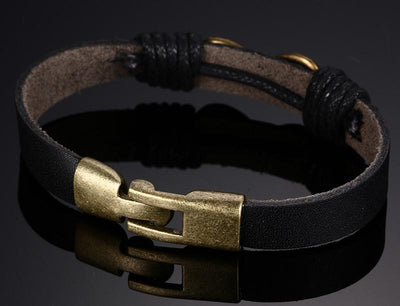 Infinity Charm Leather Bracelet for Men