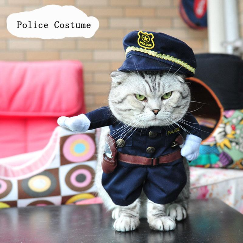 Cowboy / Police / Nurse / Doctor Costumes for Cats Kitten Clothes