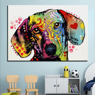 3D Print Colorful Dachshund Wall Art - DogBlabShop