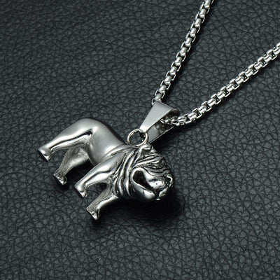 Stainless-Steel Bulldog Pendant & Necklaces for Men-Jewelry-DogBlabShop