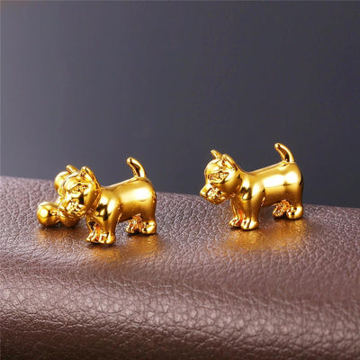 Cute Dog Cufflinks For Men,  Fashionable and Trendy Jewelry