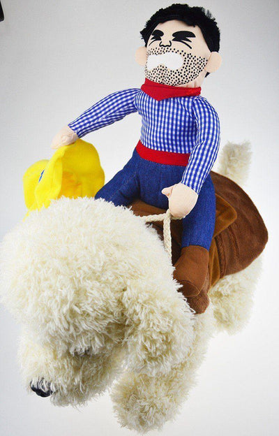 Cowboy Riding Horse Dog Costume - DogBlabShop