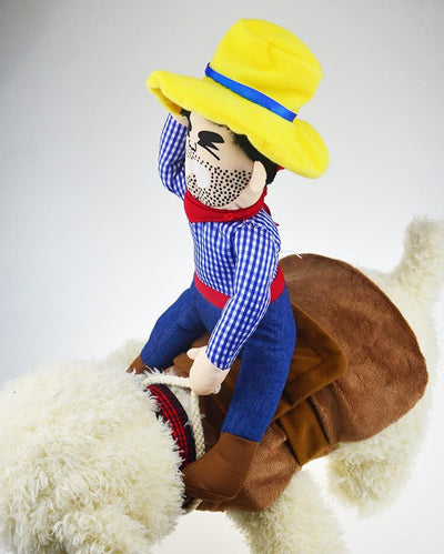 Cowboy Riding Horse Dog Costume