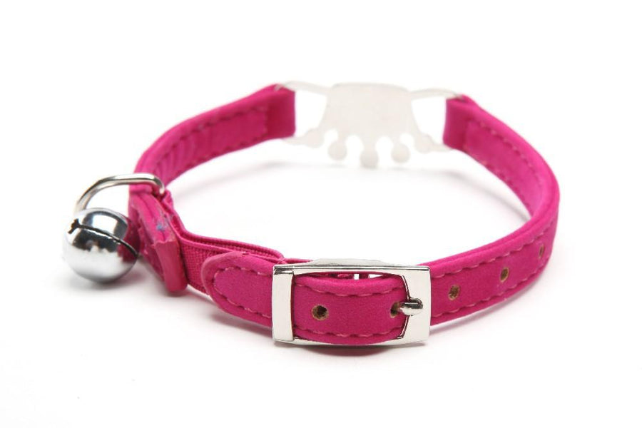 Silver Crown Bling Collars with Bells for Cats and Dogs