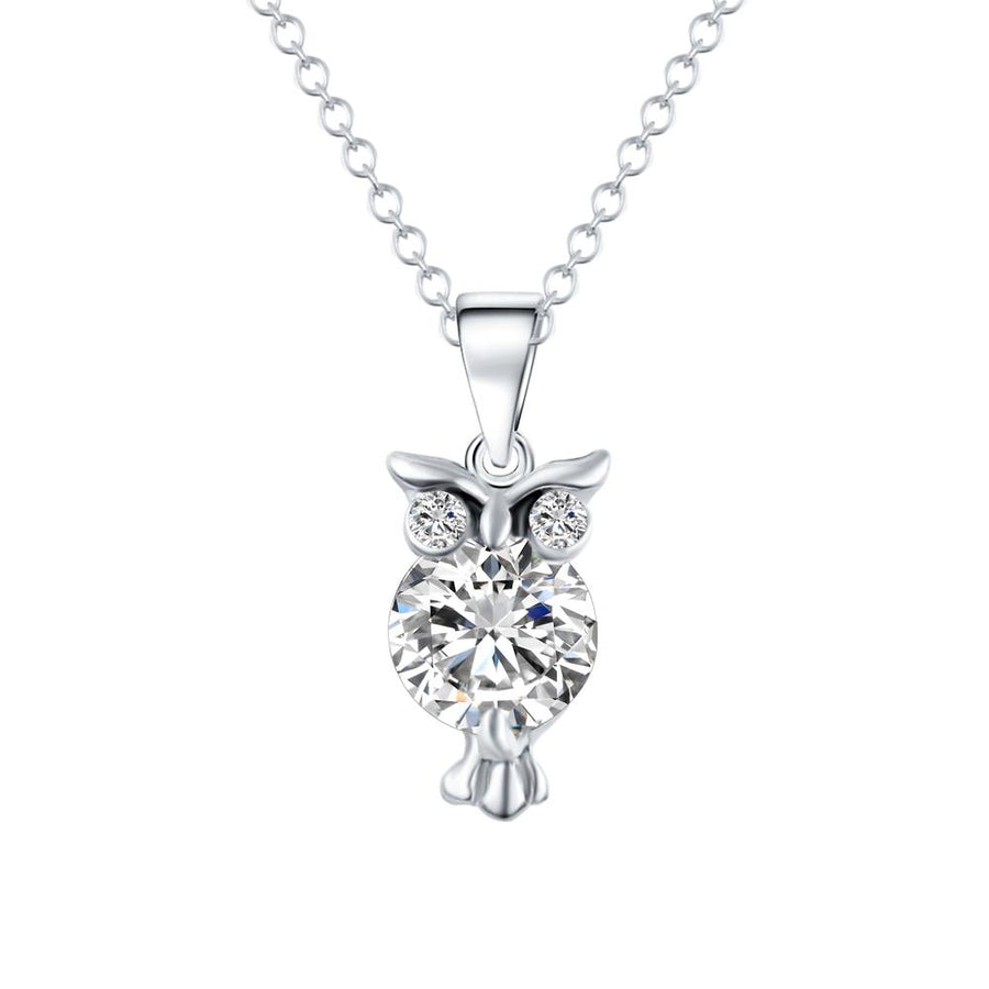 Fashionable and Lovely Owl Pendant Necklace