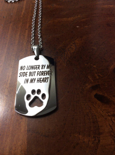 Customizable Paw Print Dog Tag Necklace for Men and Women - DogBlabShop