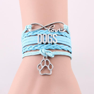 Infinity Love Dog Bracelet With Paw Charm Women Men Jewelry-Charm Bracelets-DogBlabShop