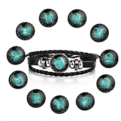Constellations Leather Charm Bracelets for Men