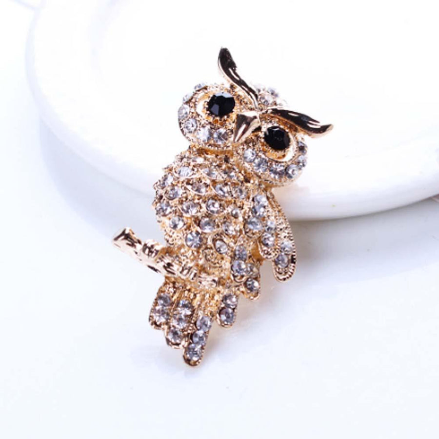 Antique Owl Brooch for Women