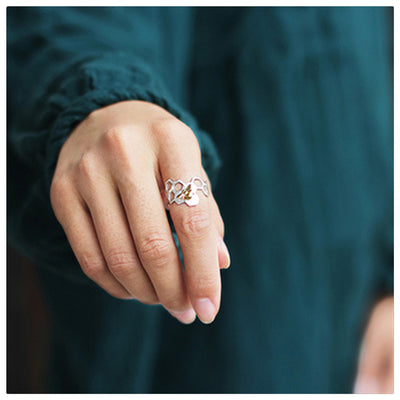 Cute Honeycomb Open Rings for Women