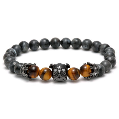 Shar Pei Charm Beaded Bracelets for Men-Jewelry-DogBlabShop