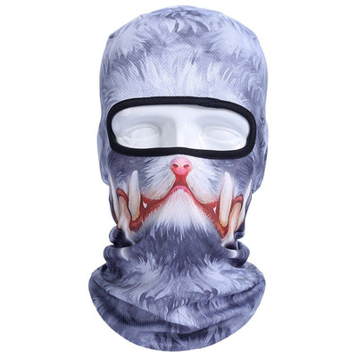 New 3D Cat Dog Bicycle | Cycling | Motorcycle | Ski Mask | Halloween - Full Face Mask-Skullies & Beanies-DogBlabShop