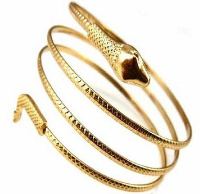 Coiled Snake Arm Cuff Bracelet for Women