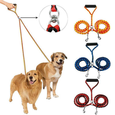 Strong And Stylish Nylon Double Dog Walking Leash-Leashes-DogBlabShop
