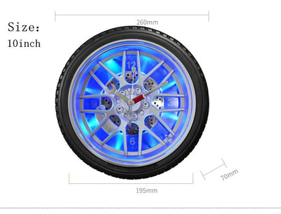 Car Tire Wall Clock with  LED Back Light