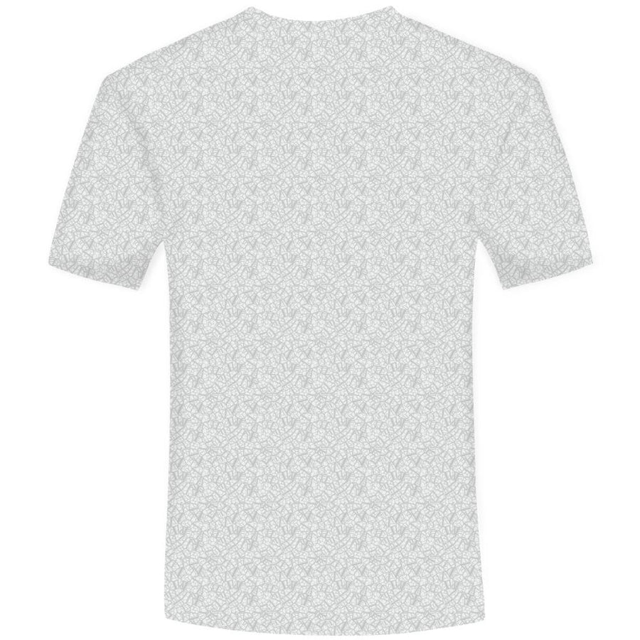 White Dog 3D T-shirt for Men