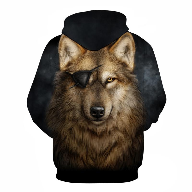 One Eyed Dog-Wolf Hoodie Sweatshirts