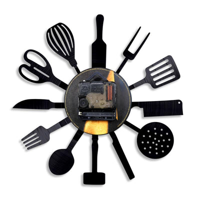 Kitchen Tools Vinyl Record Wall Clock