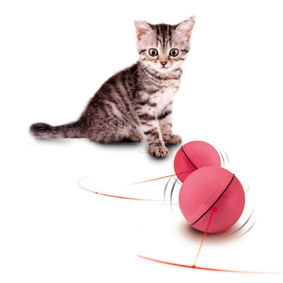 Electronic Rolling Ball with LED Laser Lights Toys for Cats