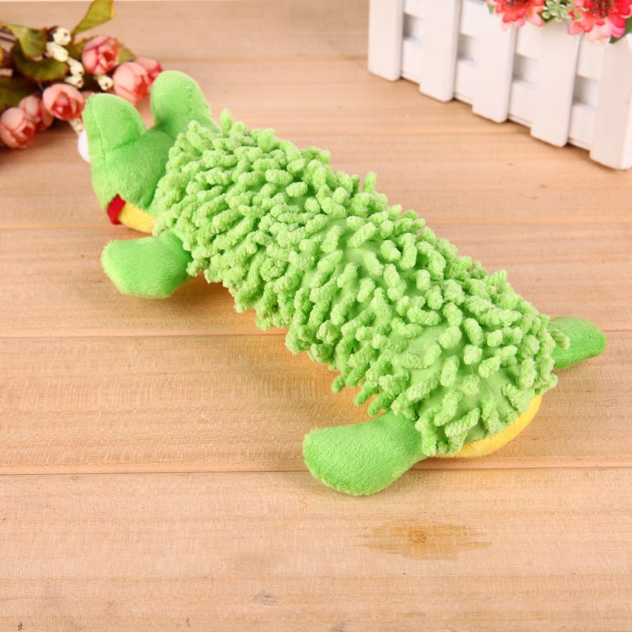 Plush Frog and Sheep Squeaker Toys for Dogs