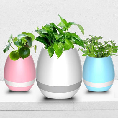 Flower Pots Bluetooth Speakers with Multi-Color LED Lights