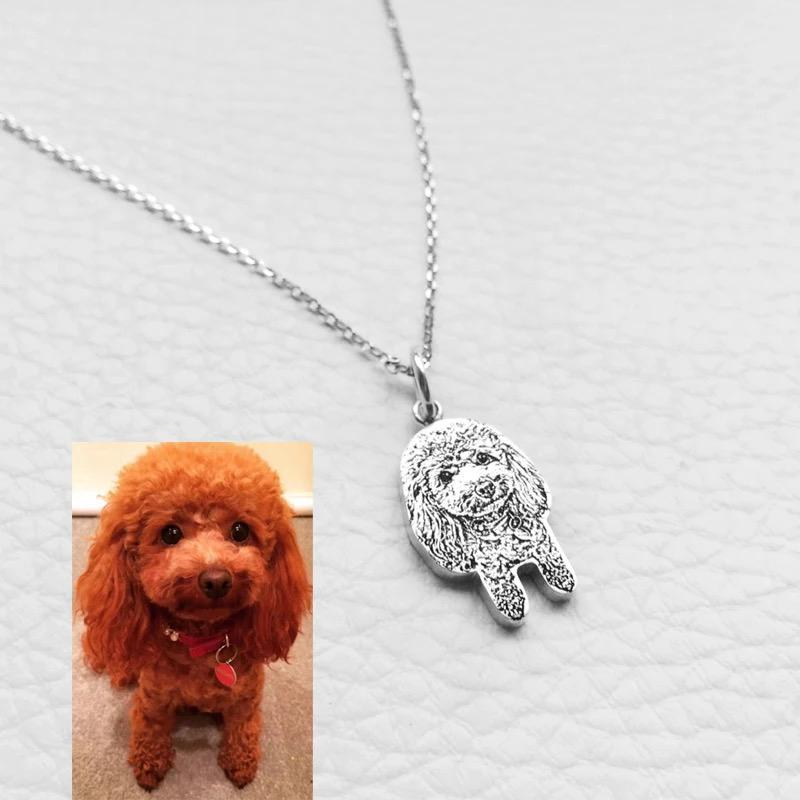 Customized Photo Engraving Silver Pendant Necklaces for Women