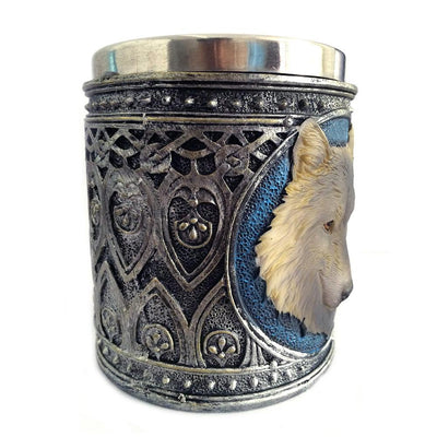 3D Wolf Stainless Steel Resin Mugs