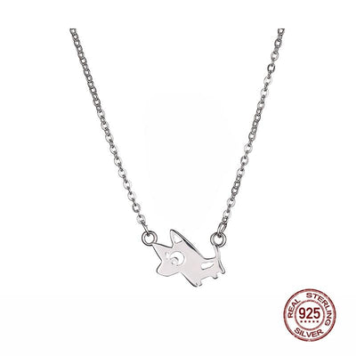 Sweet cartoon dog pendant and chain necklace for women dogblabshop sweet cartoon dog pendant and chain necklace for women mozeypictures Gallery