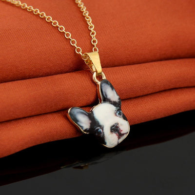 French Bulldog Pendant Necklaces for Women