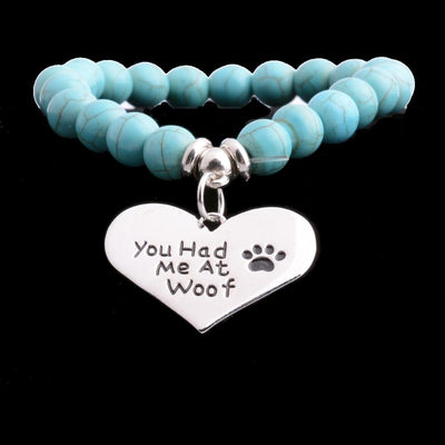 """You Had Me At Woof""  Heart Bracelet - DogBlabShop"