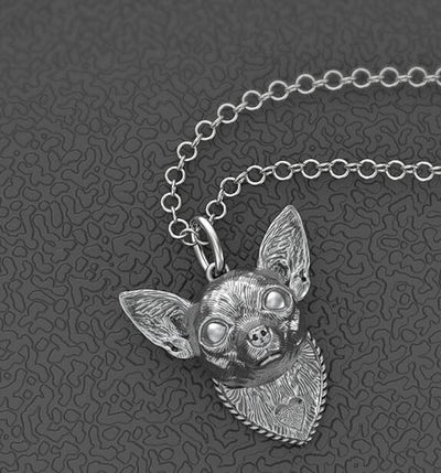 Chihuahua Head Pendant Necklaces for Men and Women - DogBlabShop