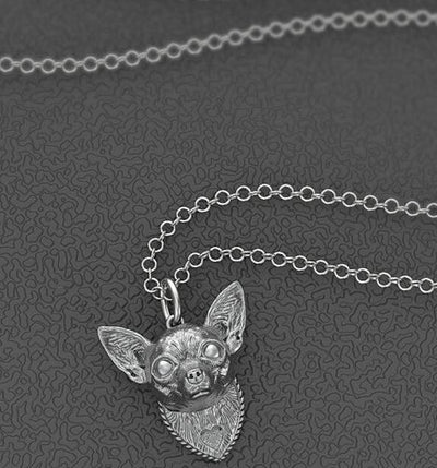 Chihuahua Head Pendant Necklaces for Men and Women