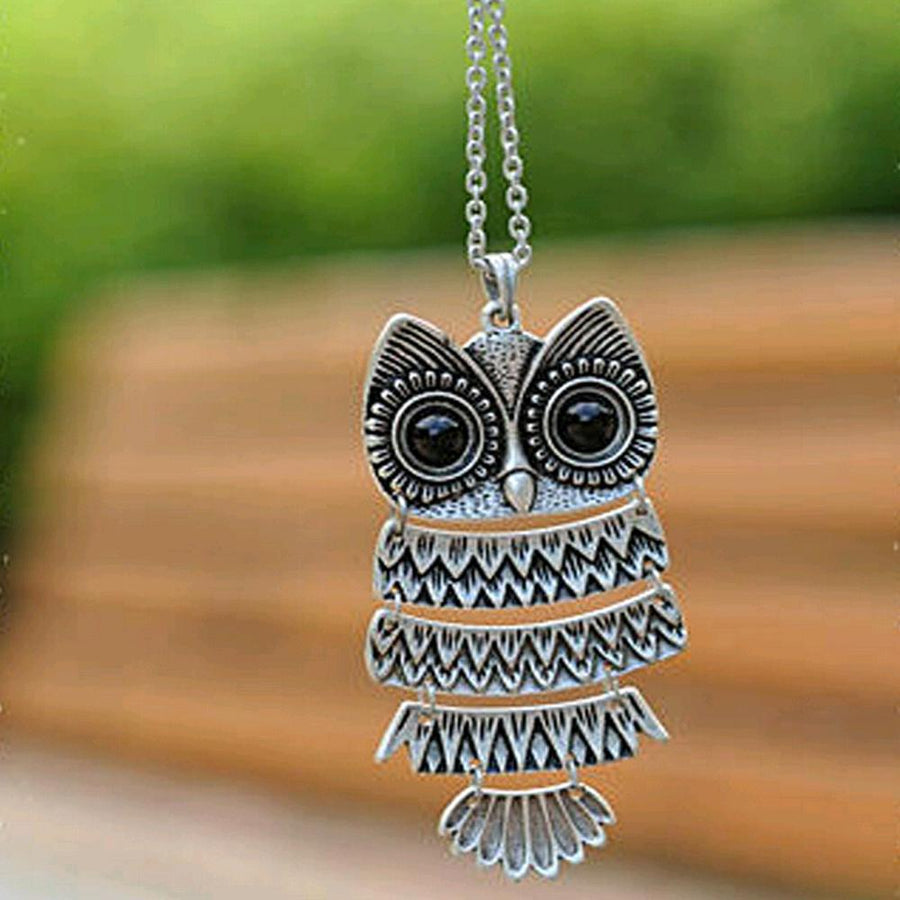 Vintage Owl Necklaces for Women in Silver and Bronze